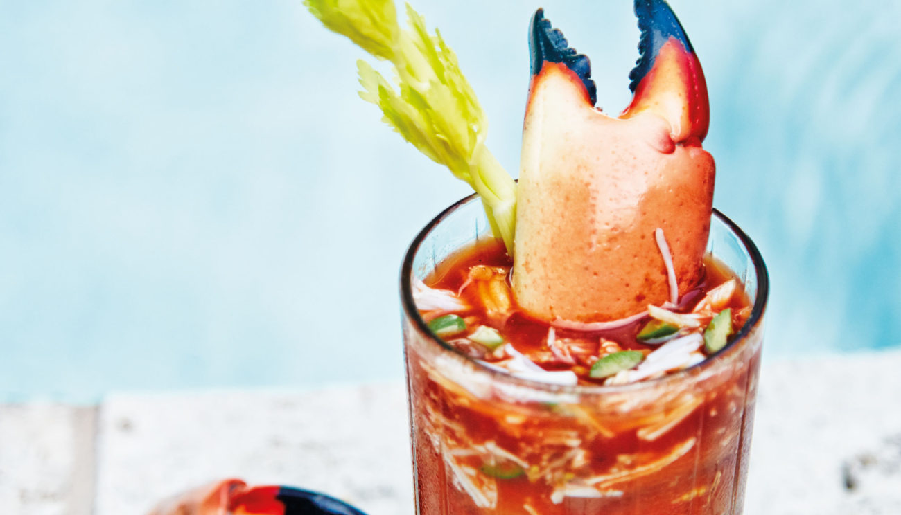Bloody Mary med taskekrabbe