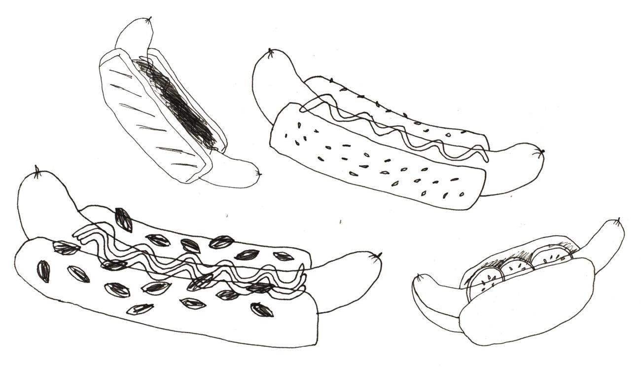 jeg elsker hot dog