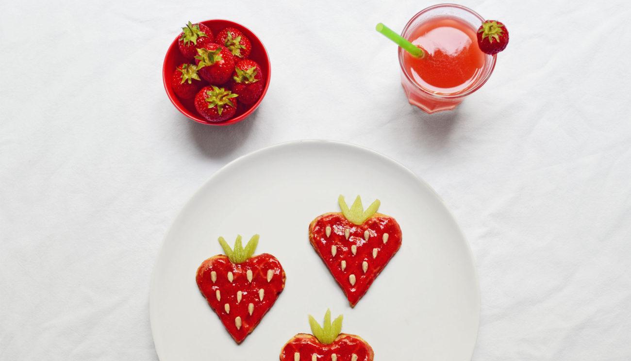 Jordbærvafler med quinoa
