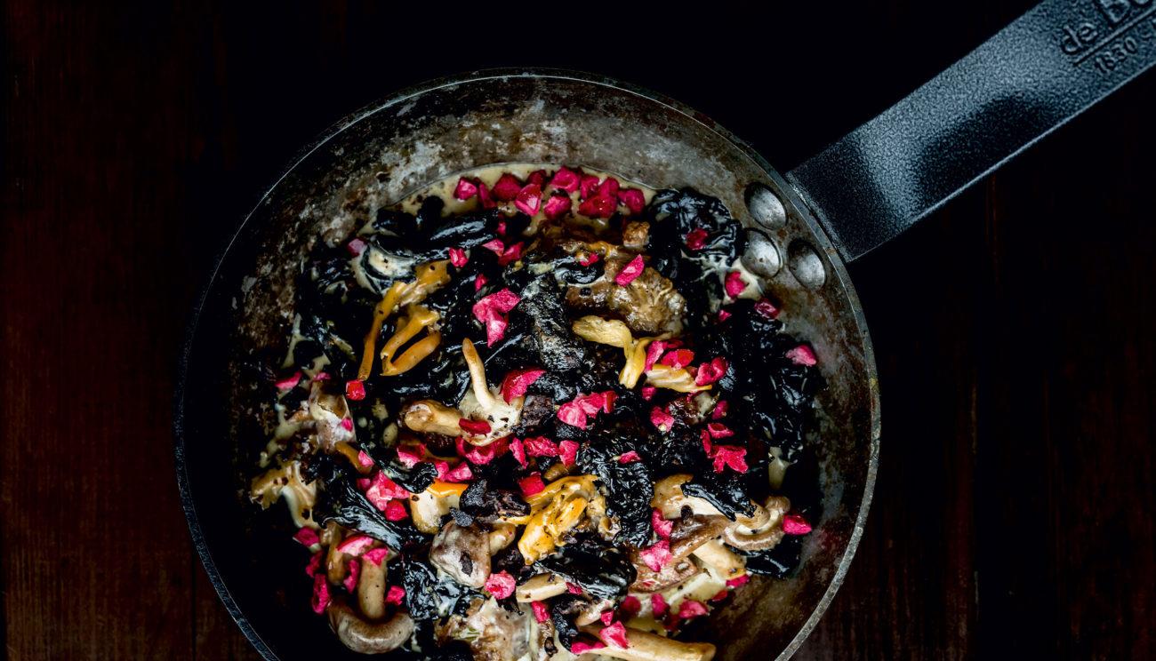 Svinekæber, vilde svampe a la creme
