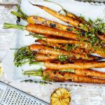 Grillede gulerødder med timian og citron
