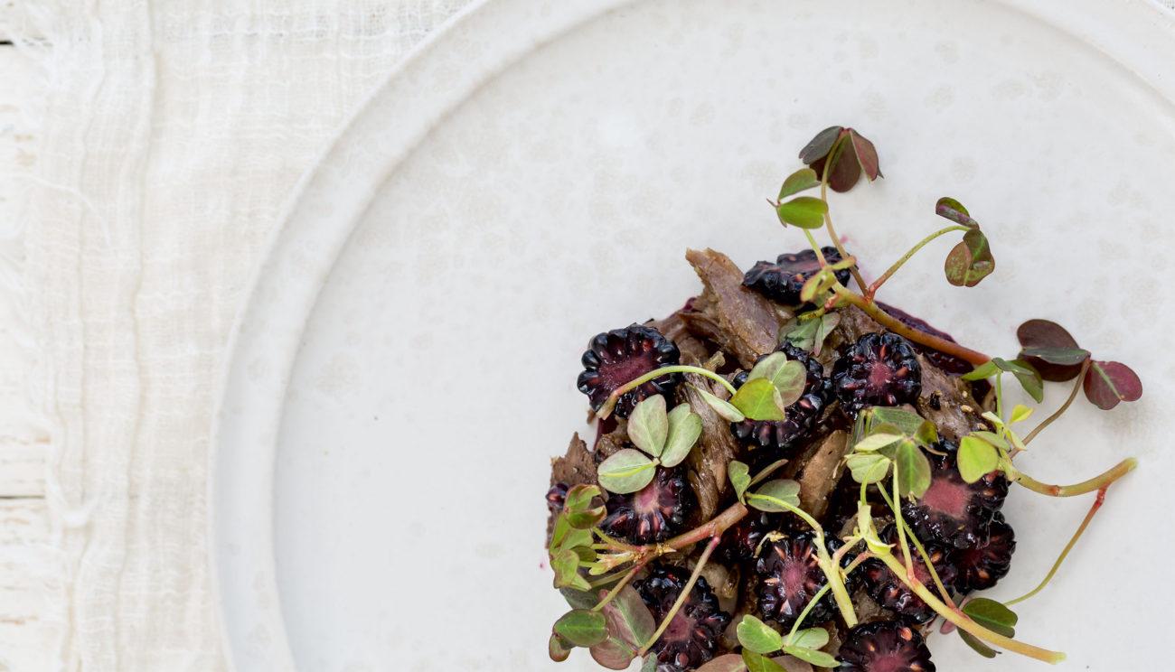 Kalveskank, brombær og syre