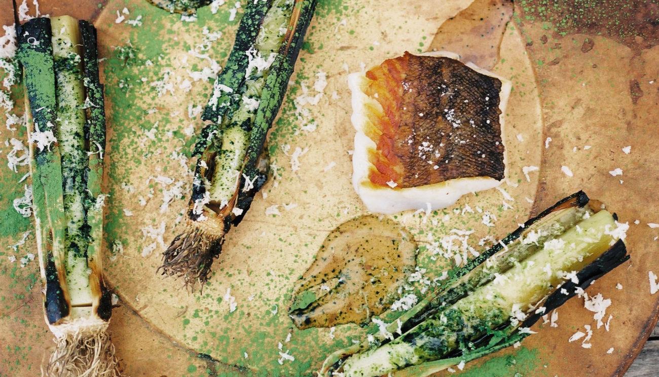 Grillede torskebugben med sojamarinade