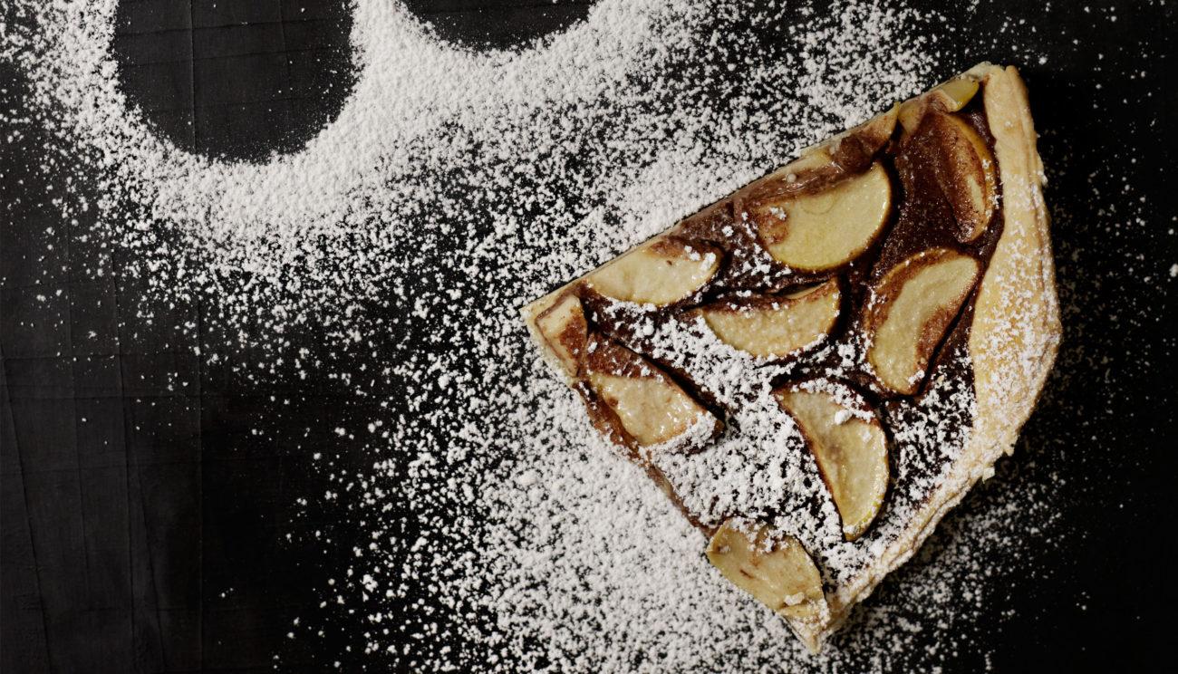 Æble/chokoladetærte