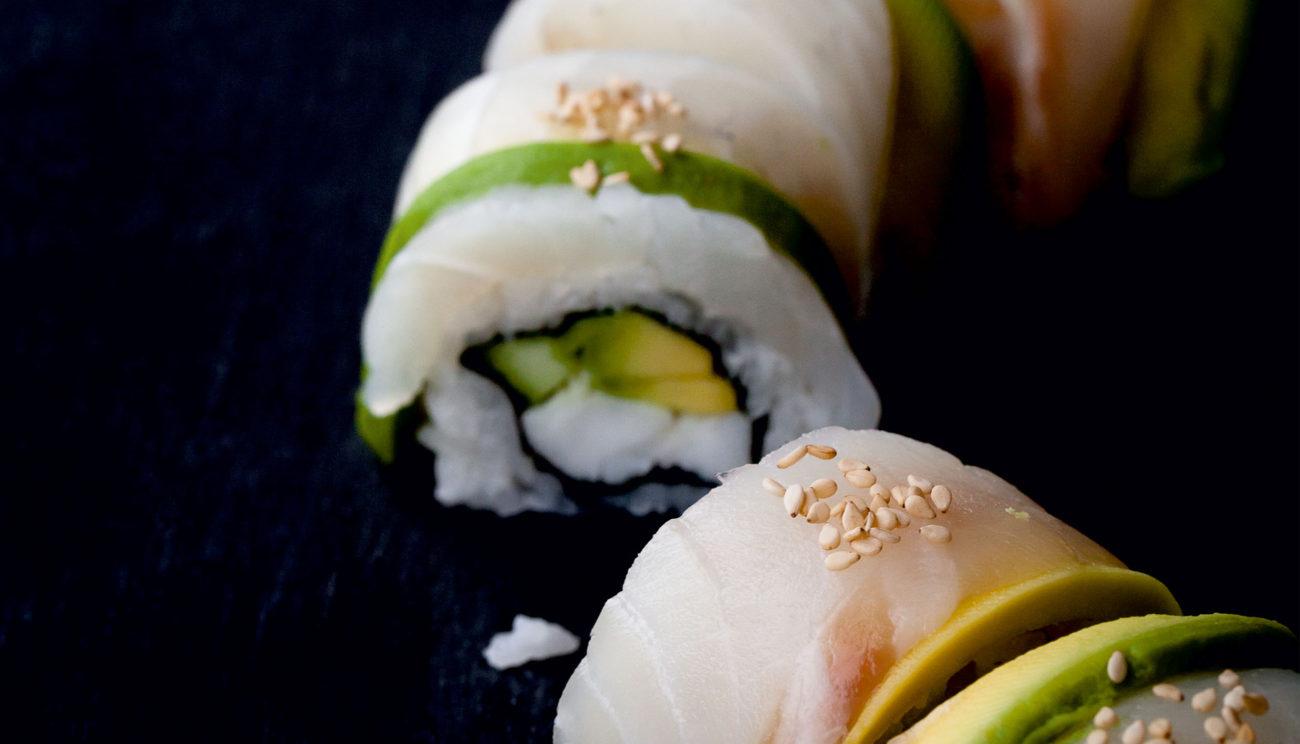 Kaburimaki med helleflynder, rødfisk og torsk