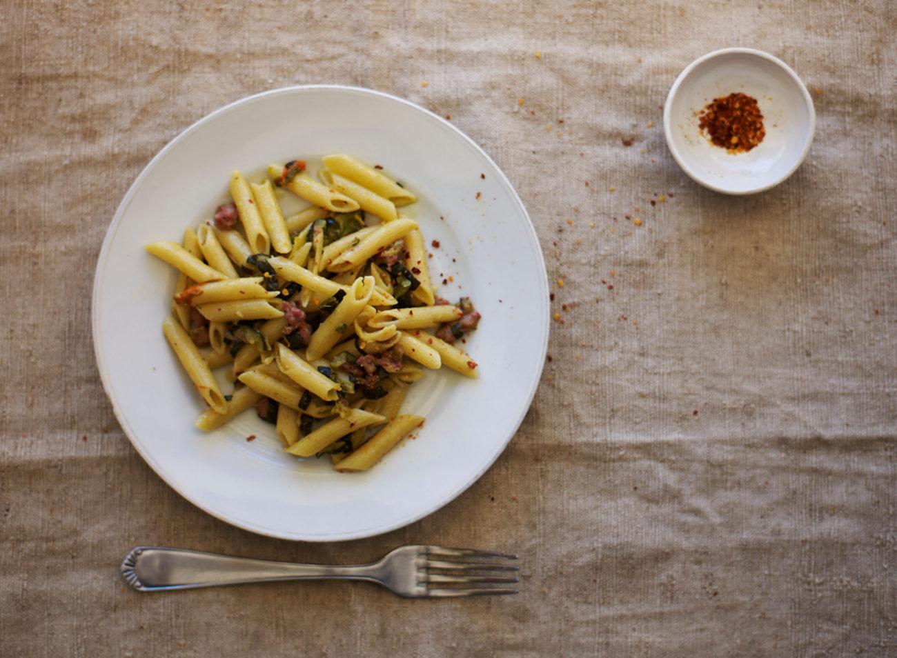 Salsiccia con zucchine