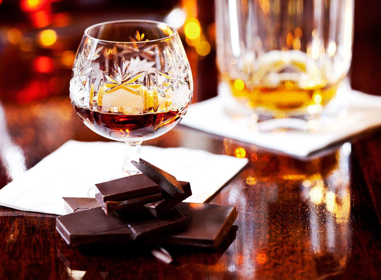 Chokolade på glas