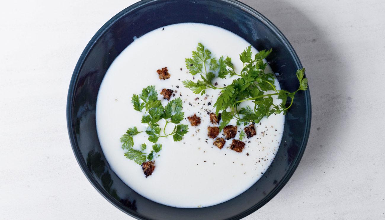 Kartoffel/porresuppe