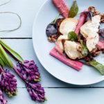 Grillet gedeost med rabarber og vinaigre