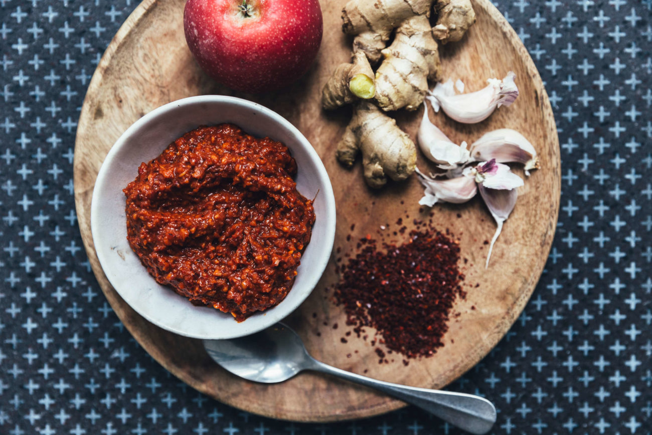Vegansk kimchipasta