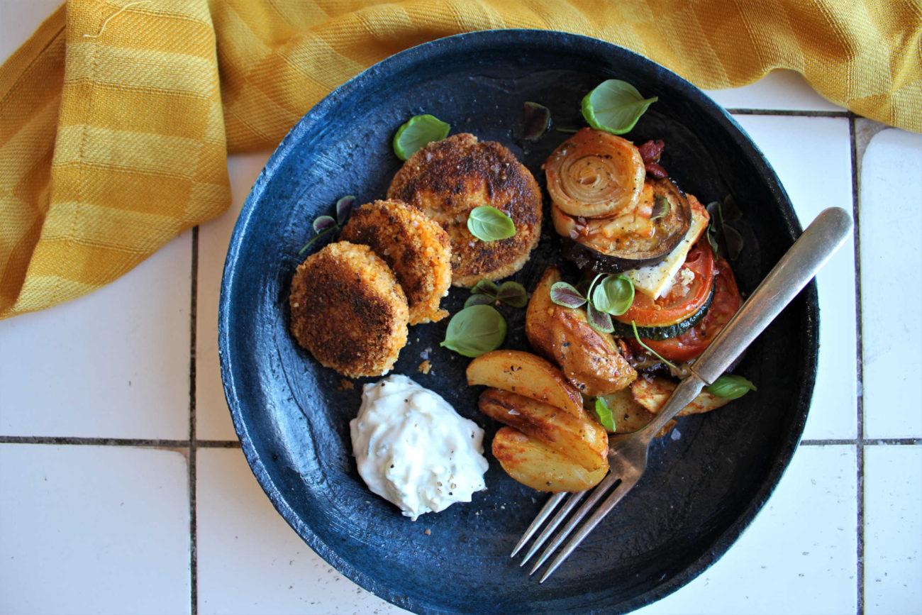 Falafler med søde kartofler og mynte