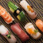 Spis sushi med udsigt over Tivoli