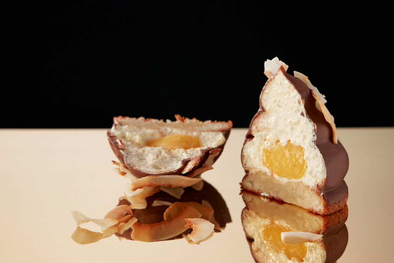 Passionsfrugt-kokos-flødeboller