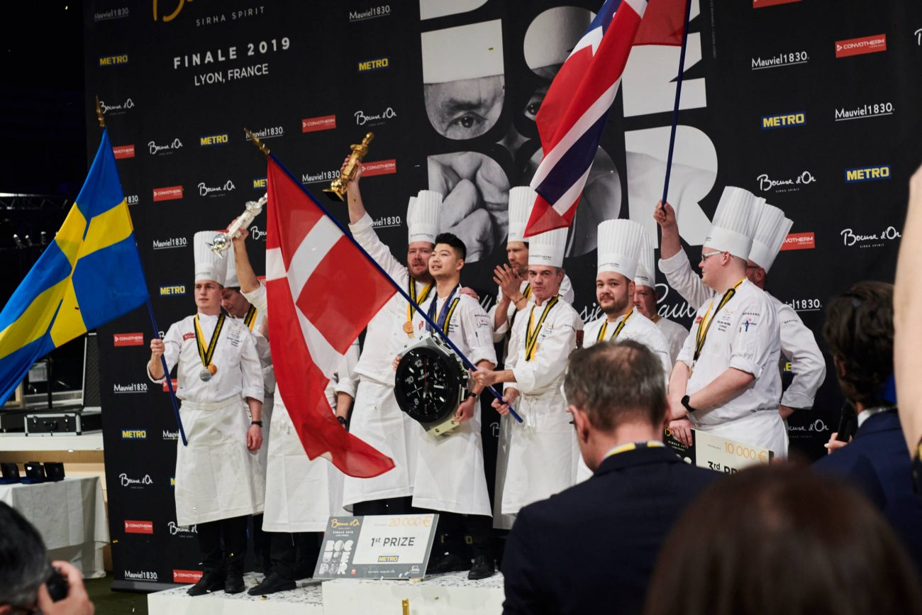 Danmark vinder guld ved Bocuse d'Or