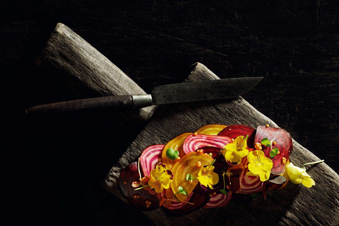 Kryddersild med bolsjebeder og blomster