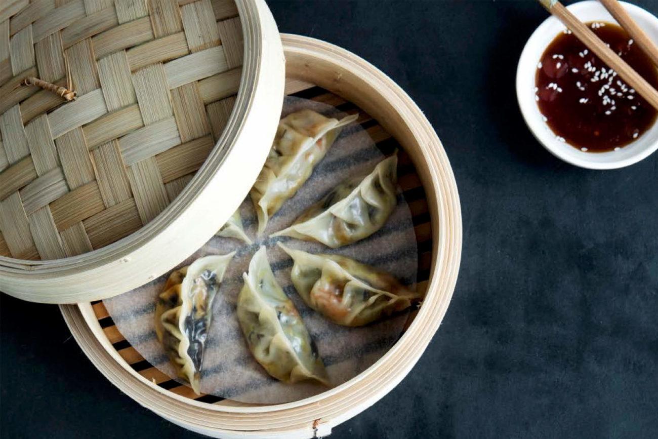 Dampede dumplings med sojadip