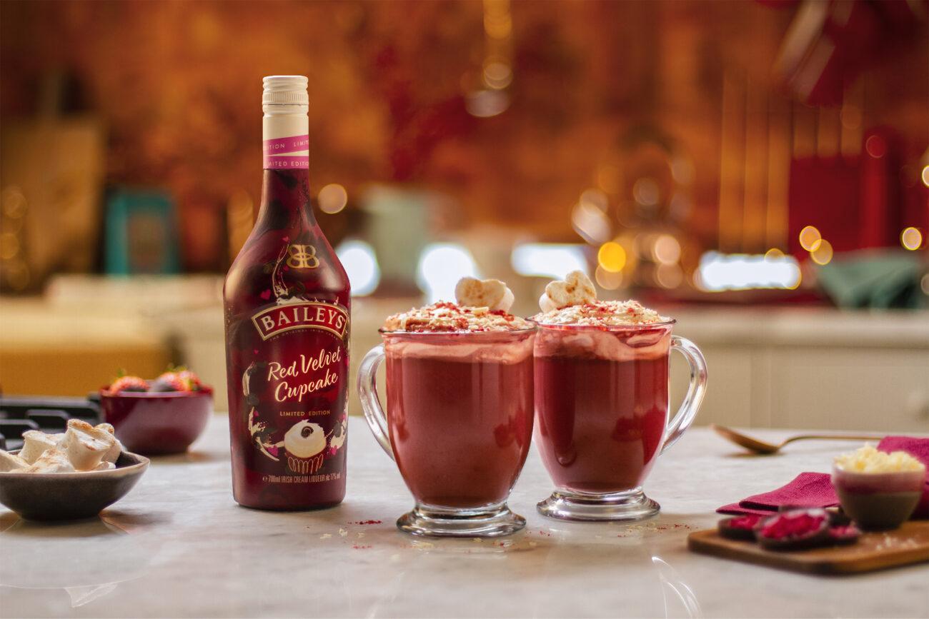 Baileys Red Velvet Cupcake Hot Chocolate