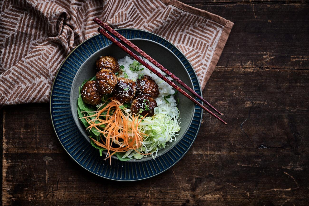 Asian style kødboller